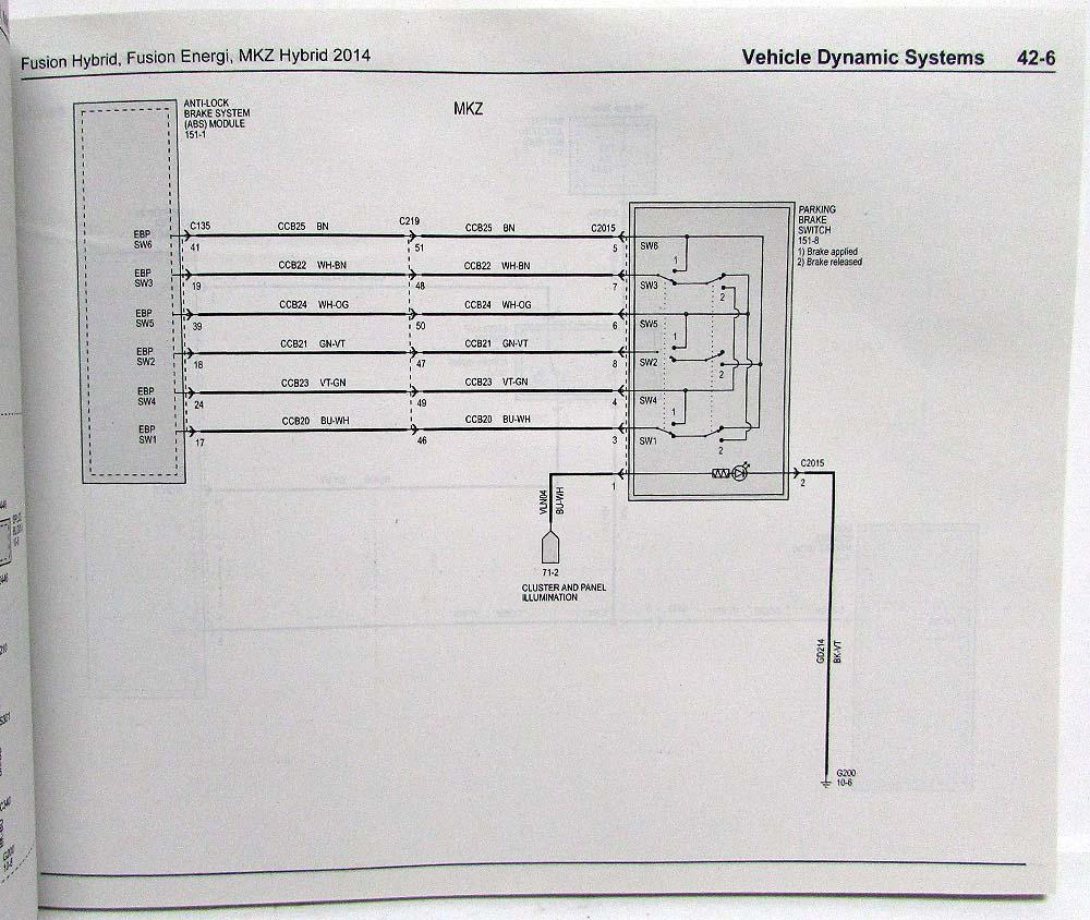 2009 Lincoln Mkz Wiring Diagram 2014 Ford Fusion Energi Hybrid Electrical Diagrams Manual
