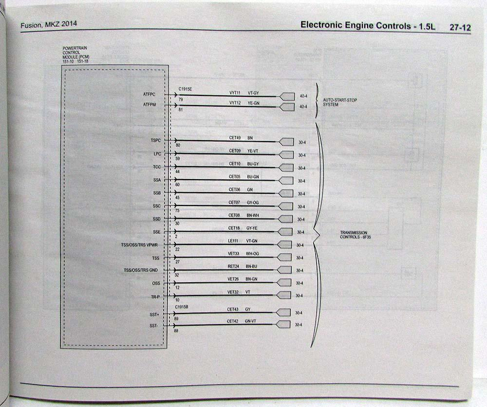 ford fusion ac wiring diagram 2014 ford fusion lincoln mkz electrical wiring diagrams manual 08 ford fusion ac wiring diagram #3