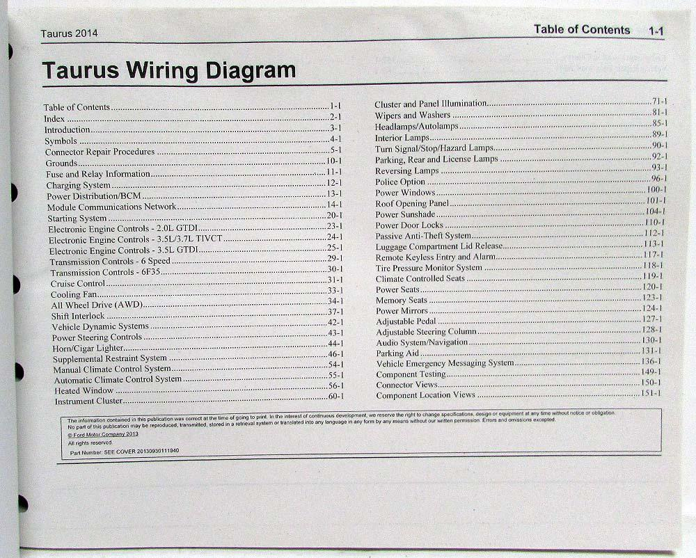 89 Ford Taurus Wiring Diagram