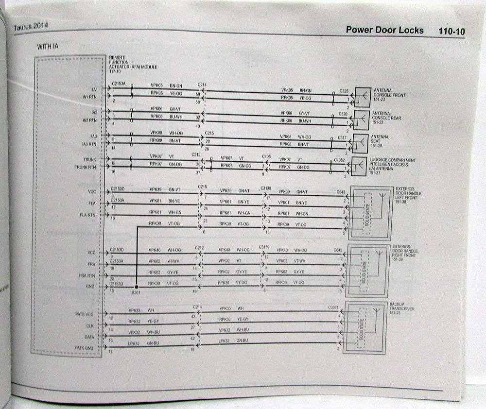 2014 FORD TAURUS Electrical Wiring Diagram Manual OEM NEW 2014