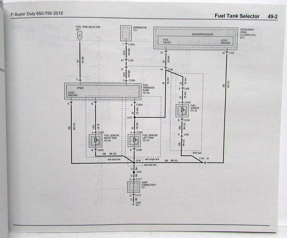 2015 ford f 650 750 super duty trucks electrical wiring 2005 Ford F650 Fuse Box Diagram 2004 Ford F650 Fuse Diagram