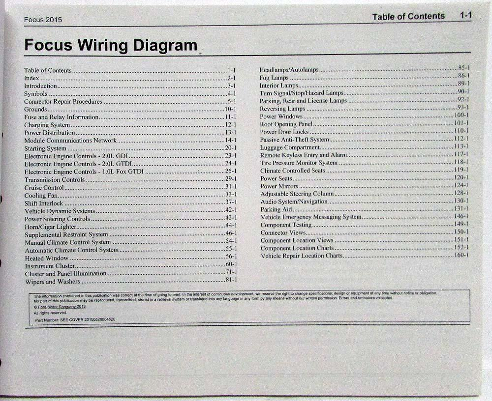 2015 Ford Focus St Electrical Wiring Diagrams Manual 2001 Explorer Steering Wheel Diagram
