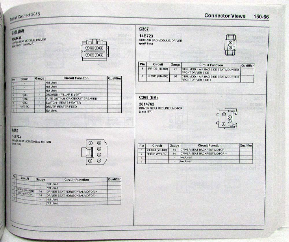 2015 Ford Transit Connect Electrical Wiring Diagrams Manual