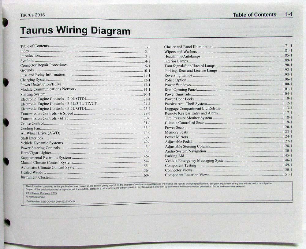 2015 ford taurus police interceptor electrical wiring diagrams manual rh autopaper com