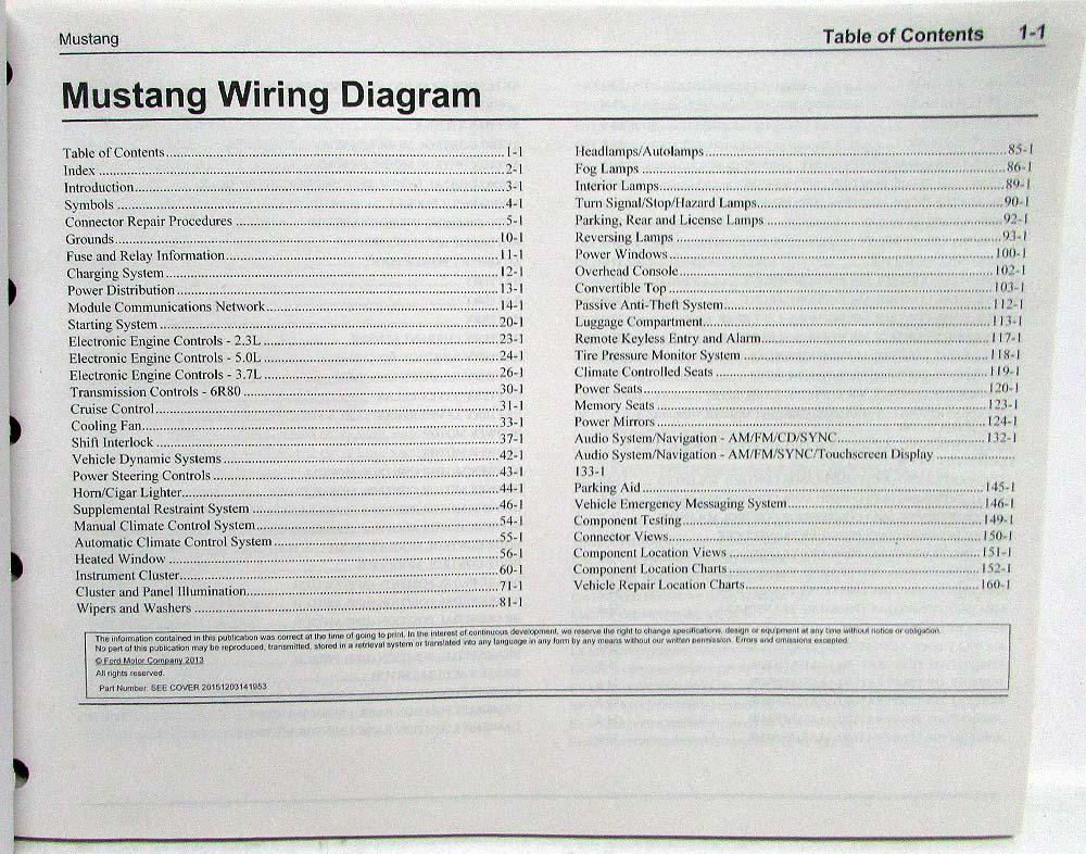 [ANLQ_8698]  2015 Ford Mustang GT Electrical Wiring Diagrams Manual | 2015 Mustang Wiring Diagram |  | Troxel's Auto Literature