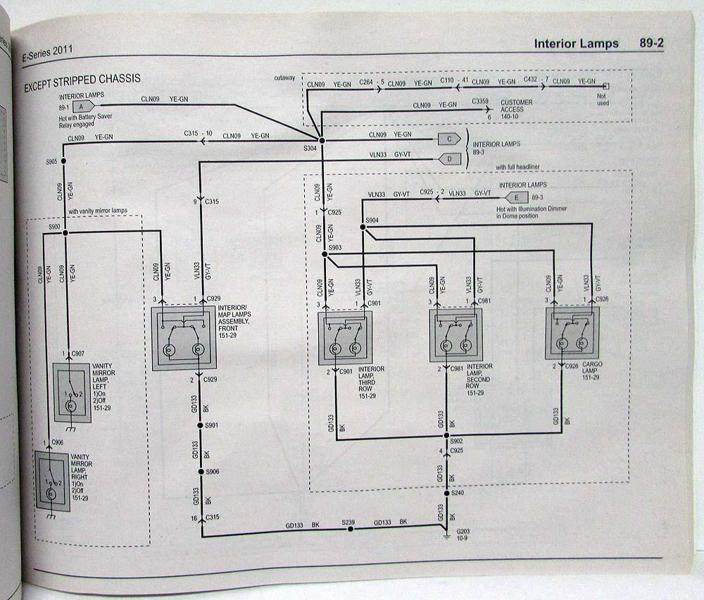 2011 Ford Econoline Club Wagon E Series Electrical Wiring Diagrams Mercury Milan Diagram Manual