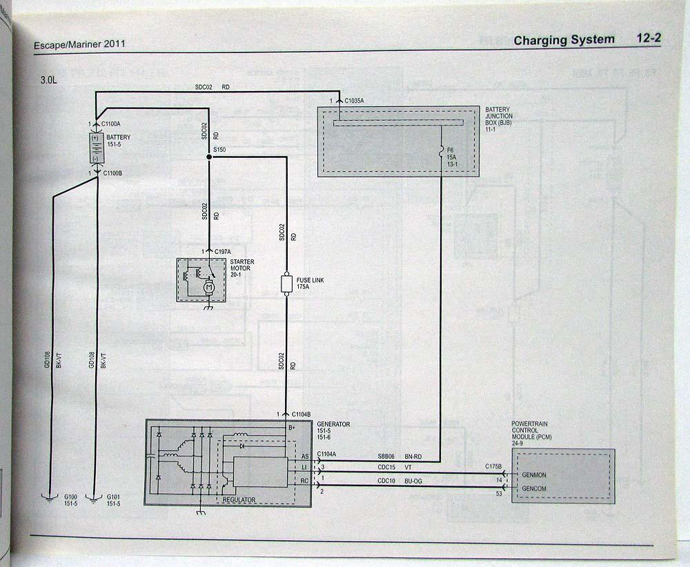 2011 Escape Wiring Diagram Will Be A Thing Ford Mercury Mariner Electrical Diagrams Manual Rh Autopaper Com 2010