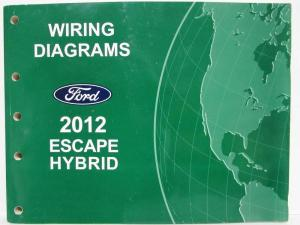 2009 Ford Escape Mercury Mariner Hybrid Wiring Diagrams Electrical Shop Manual