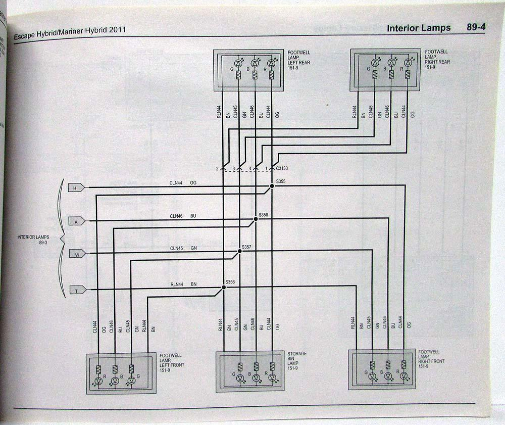 2011 Ford Escape Wiring Manual Diagrams Radio Mercury Mariner Hybrid Electrical Wiper Diagram