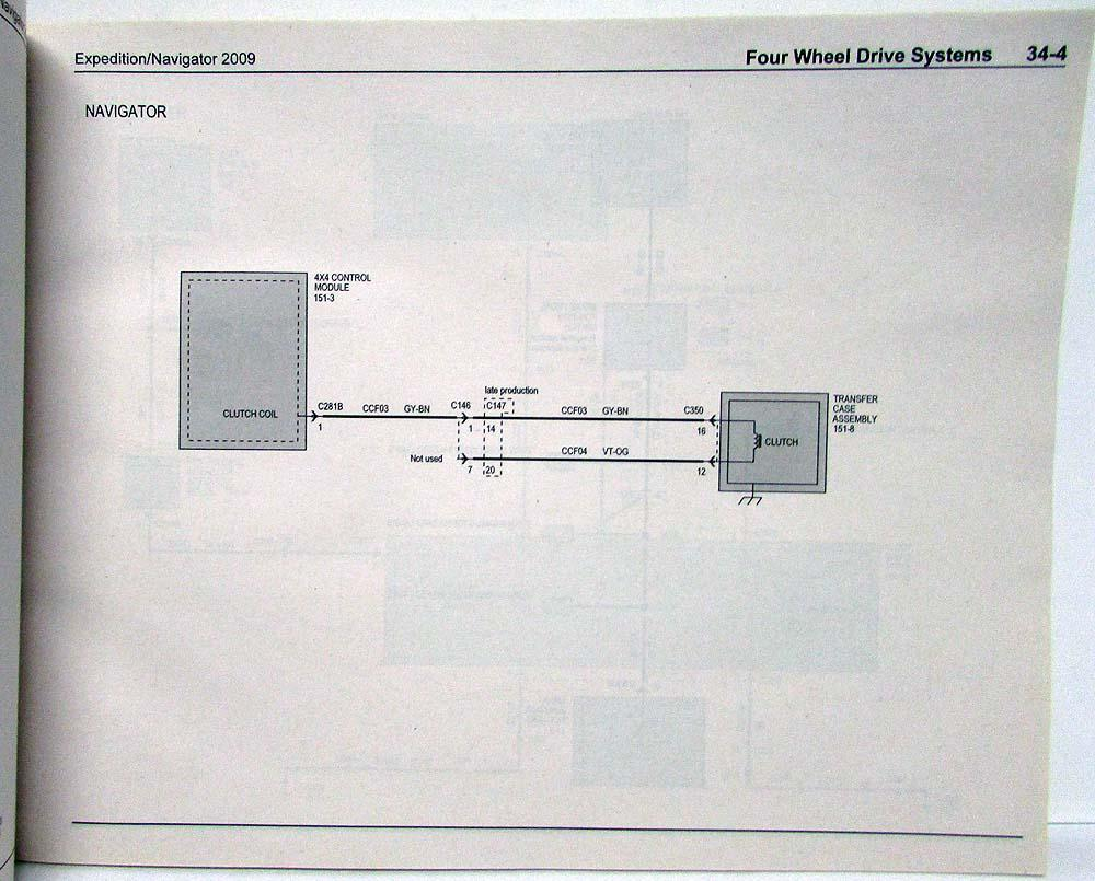 2009 ford expedition & lincoln navigator electrical wiring diagrams manual