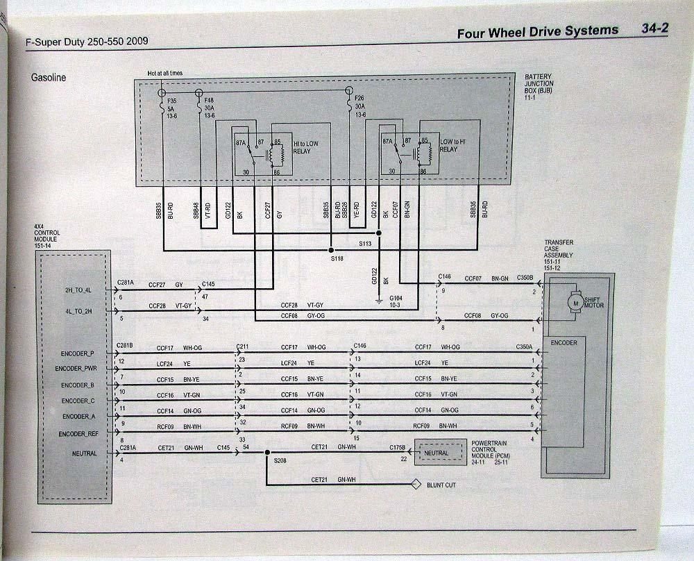 2009 ford f-250 350 450 550 super duty pickup electrical ... 98 ford f 250 fuse diagram 1962 ford f 250 circuit diagram
