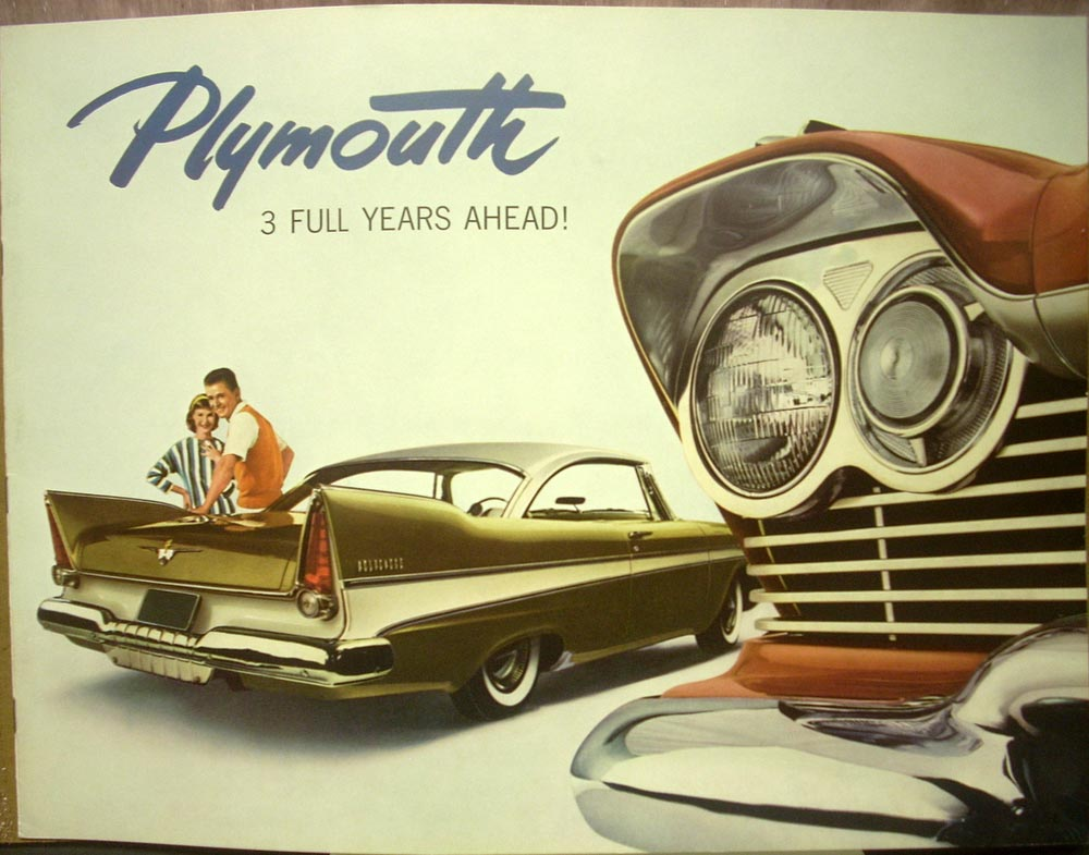 1957 plymouth belvedere savoy plaza suburban color brochure torsion aire  ride rv