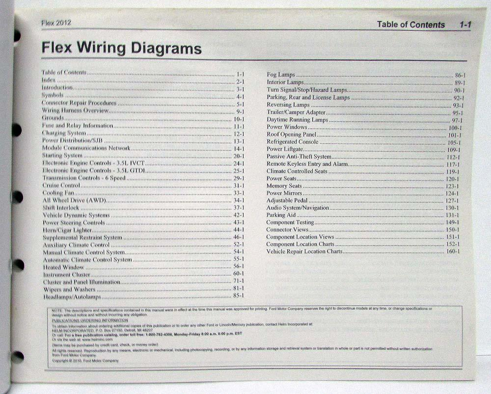 2012 Ford Flex Electrical Wiring Diagrams ManualTroxel's Auto Literature