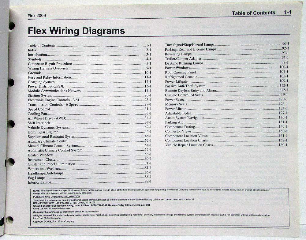 2009 ford flex electrical wiring diagrams manual emission wiring diagram 2009 ford flex #14