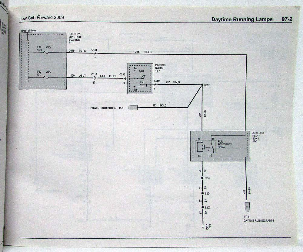 2009 Ford Low Cab Forward Electrical Wiring Diagrams Manual Diagram