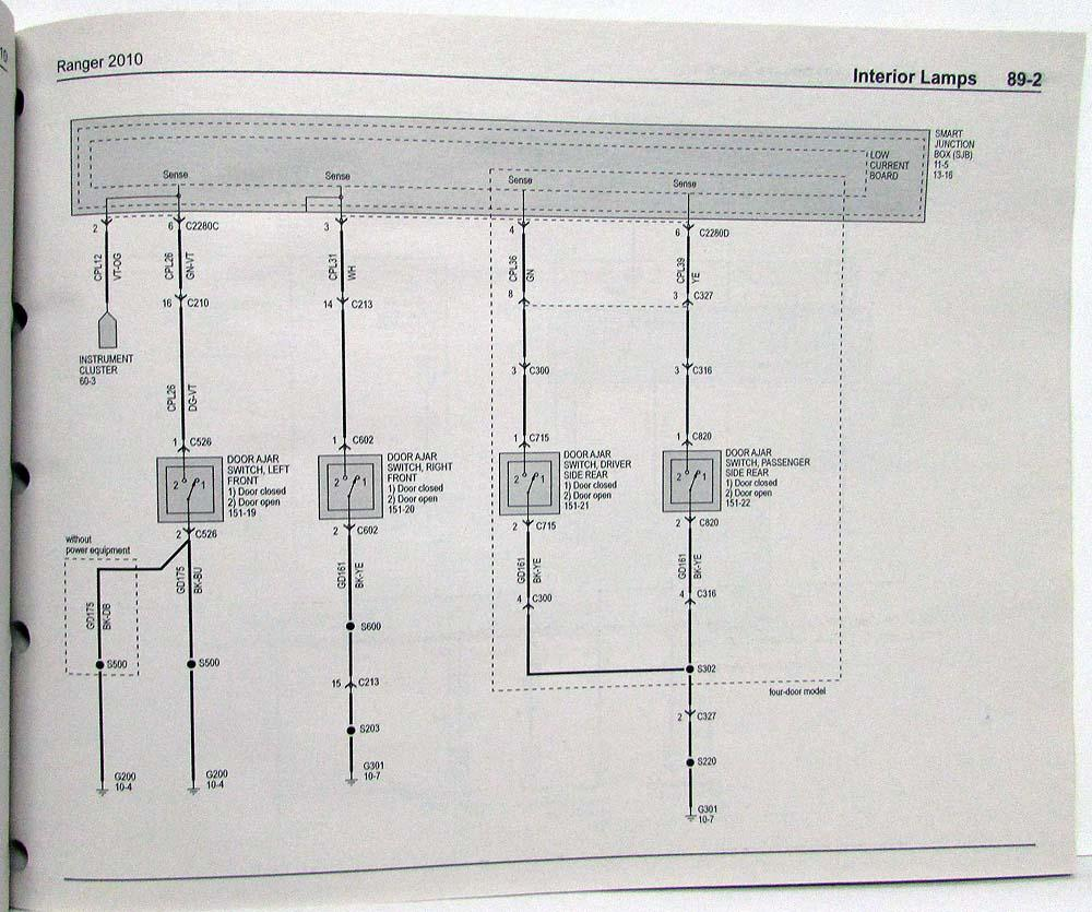 2010 Ford Ranger Pickup Truck Electrical Wiring Diagrams Manual 2003 Edge Diagram