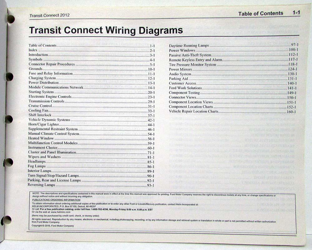 2012 ford transit connect electrical wiring diagrams manual rh autopaper com ford transit connect wiring diagram ford transit connect wiring diagram pdf