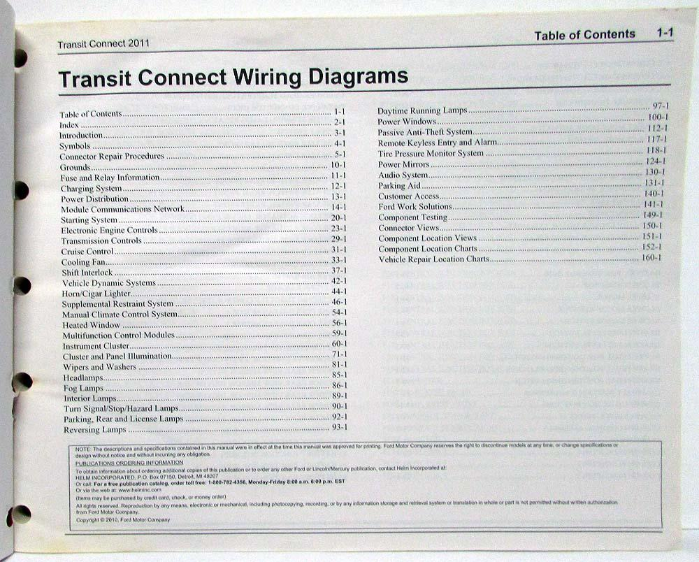 2011 ford transit connect electrical wiring diagrams manual rh autopaper com