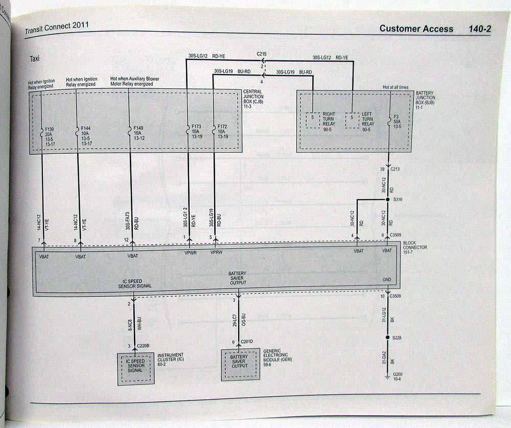 2011 Ford Transit Connect Electrical Wiring Diagrams Manual Diagram