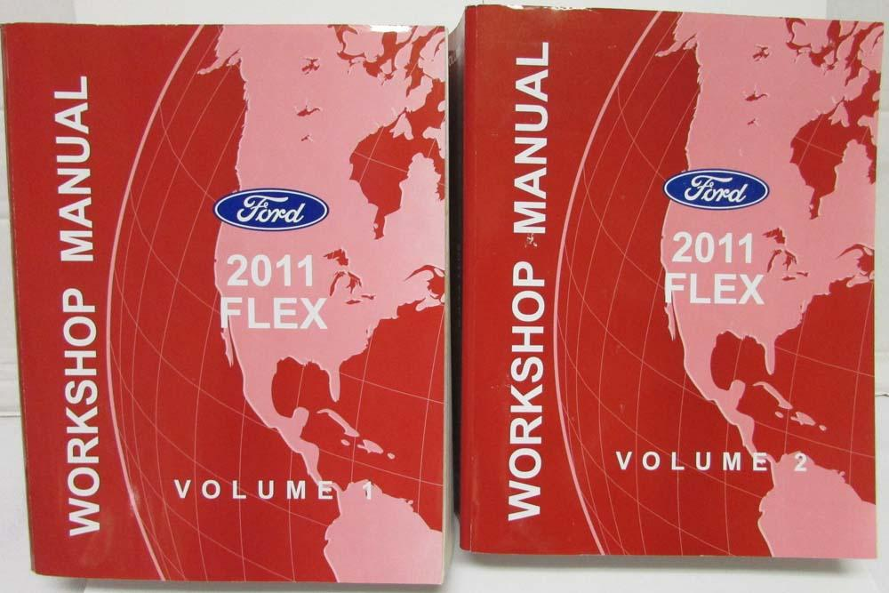 2011 ford flex service shop repair manual set vol 1 2 rh autopaper com ford flex service manual free 2009 ford flex service manual