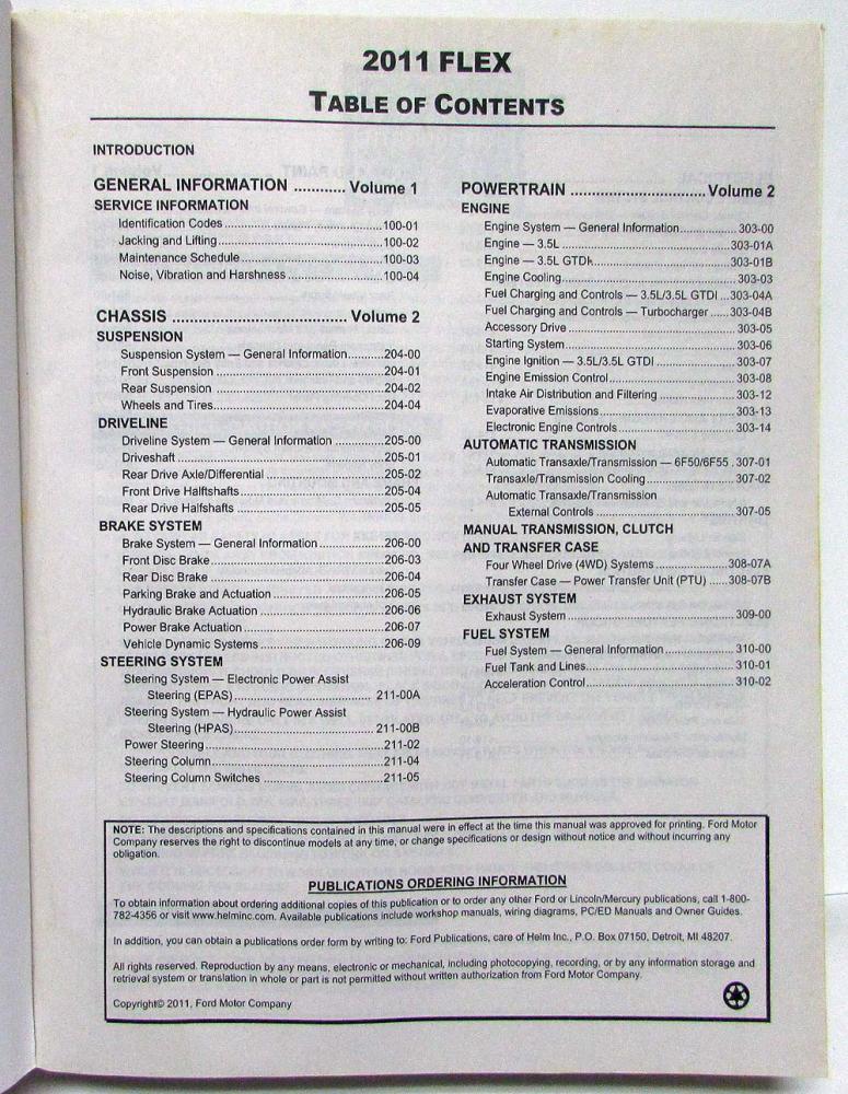 ford flex 2011 manual