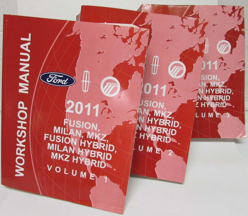 2011 Ford Fusion Mercury Milan Lincoln Mkz Hybrids Service Shop 2007 Engine Diagram Manual Vol 1 3