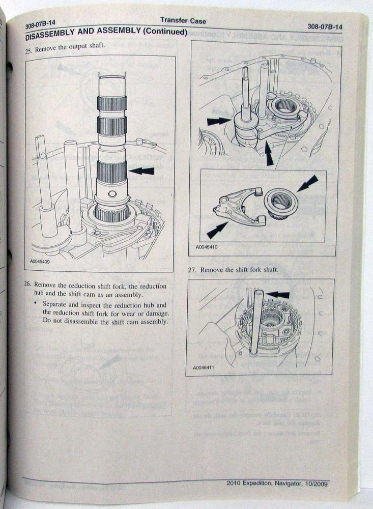 2010 Ford Expedition Lincoln Navigator Service Shop Repair Manual Set Vol 1 2