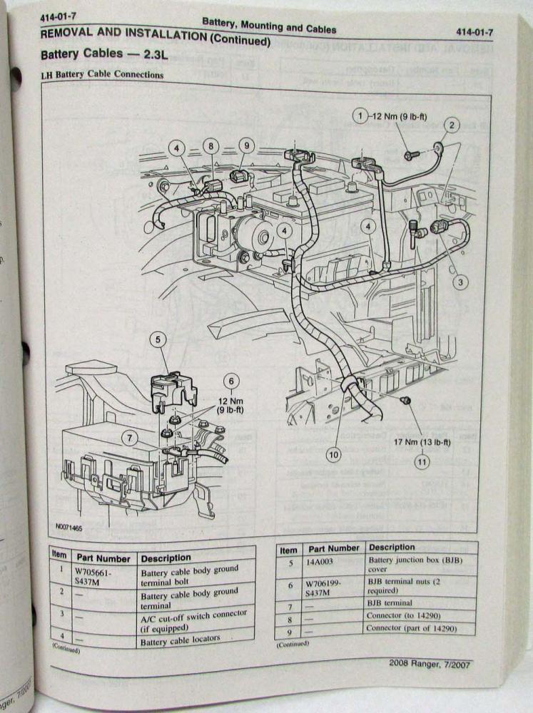 2008 Ford Ranger Pickup Truck Service Shop Repair Manual Set Vol 1 & 2Troxel's Auto Literature