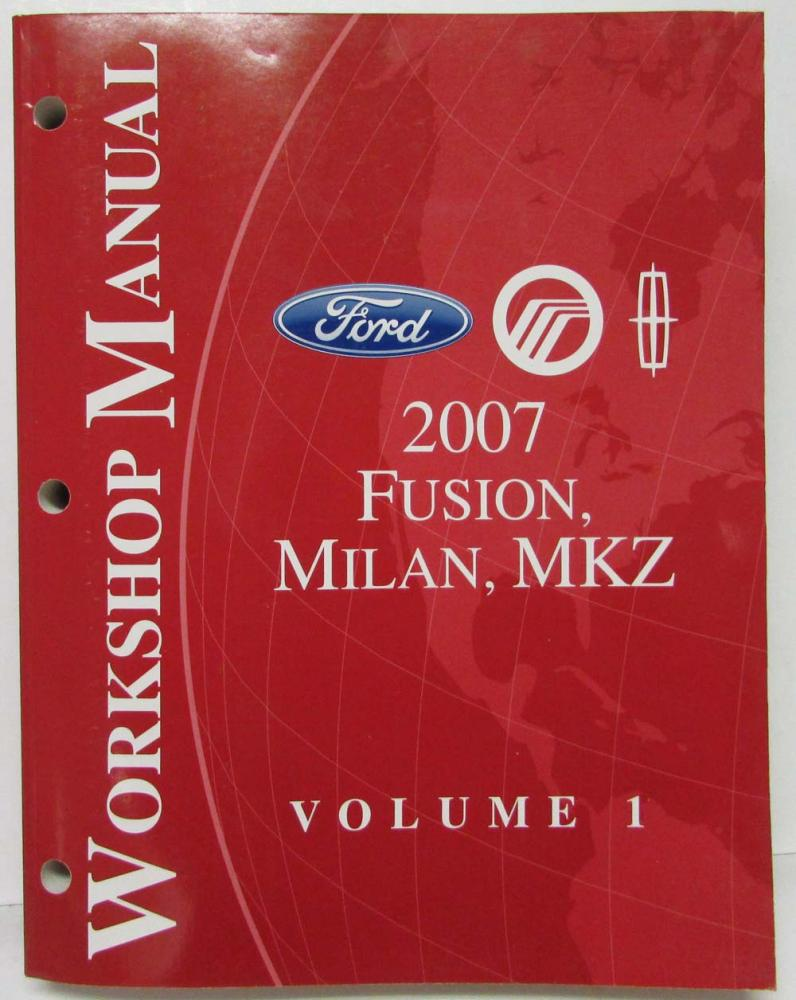 2007 Ford Fusion Mercury Milan Lincoln Mkz Service Shop Manual Set Engine Diagram Vol 12