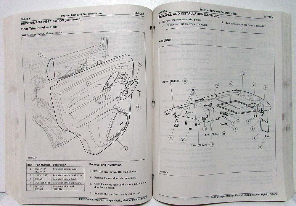 Ford escape hybrid 2007 owners manual.