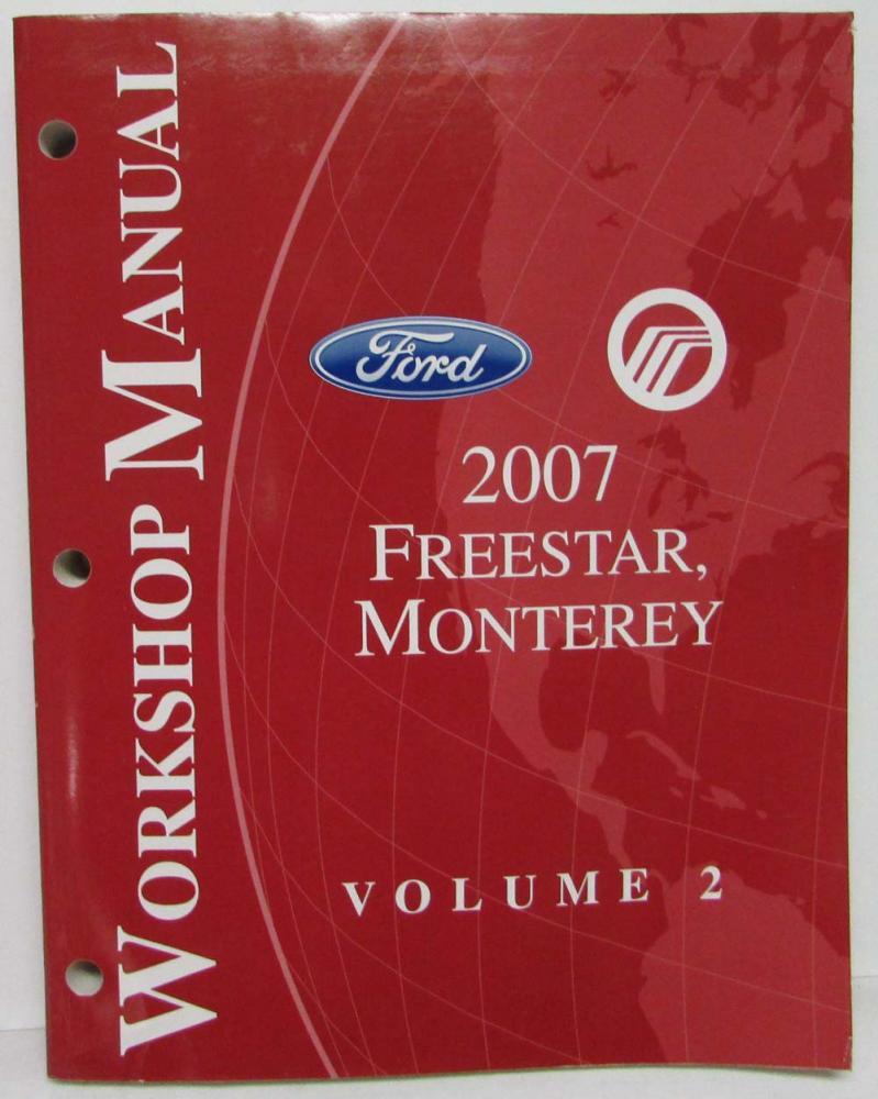 2007 Ford Freestar Mercury Monterey Service Shop Repair Manual Set Freestyle Wiring Diagram Vol 12
