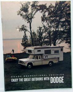1969 Dodge Truck Dealer Sales Brochure RV Camper Motor Home Pickup Models