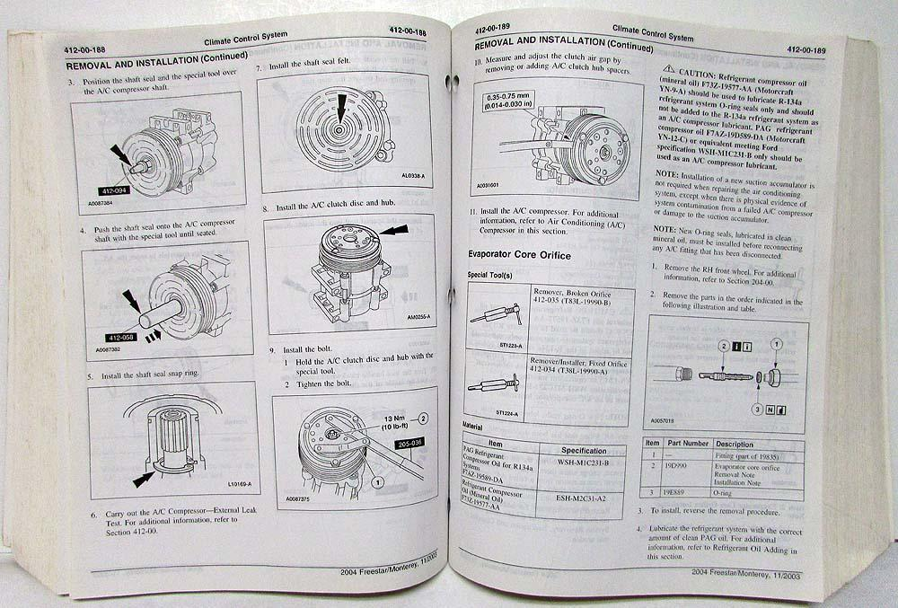 mercury monterey 2004 manual