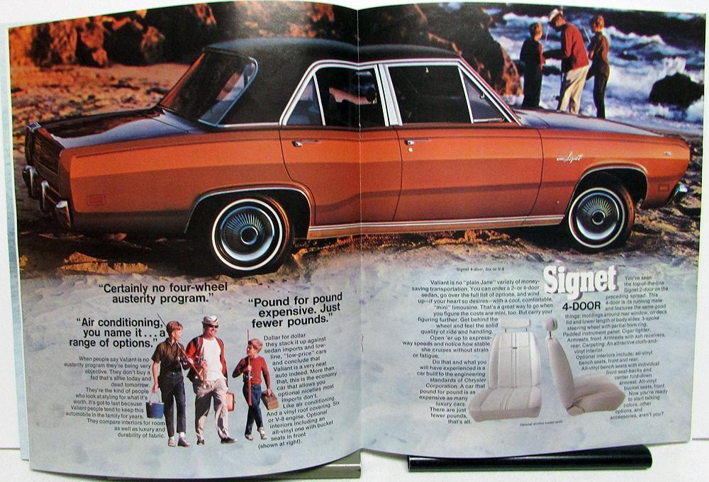 1969 Plymouth Valiant 100 200 /& Signet Deluxe Dealer Sales Brochure
