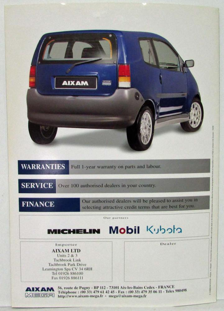 1999 Aixam 500 Sales Folder Uk Market