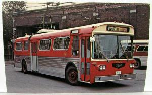 Vintage early 1970s Prototype Western Flyer Trolley Bus No 9020 Toronto Postcard