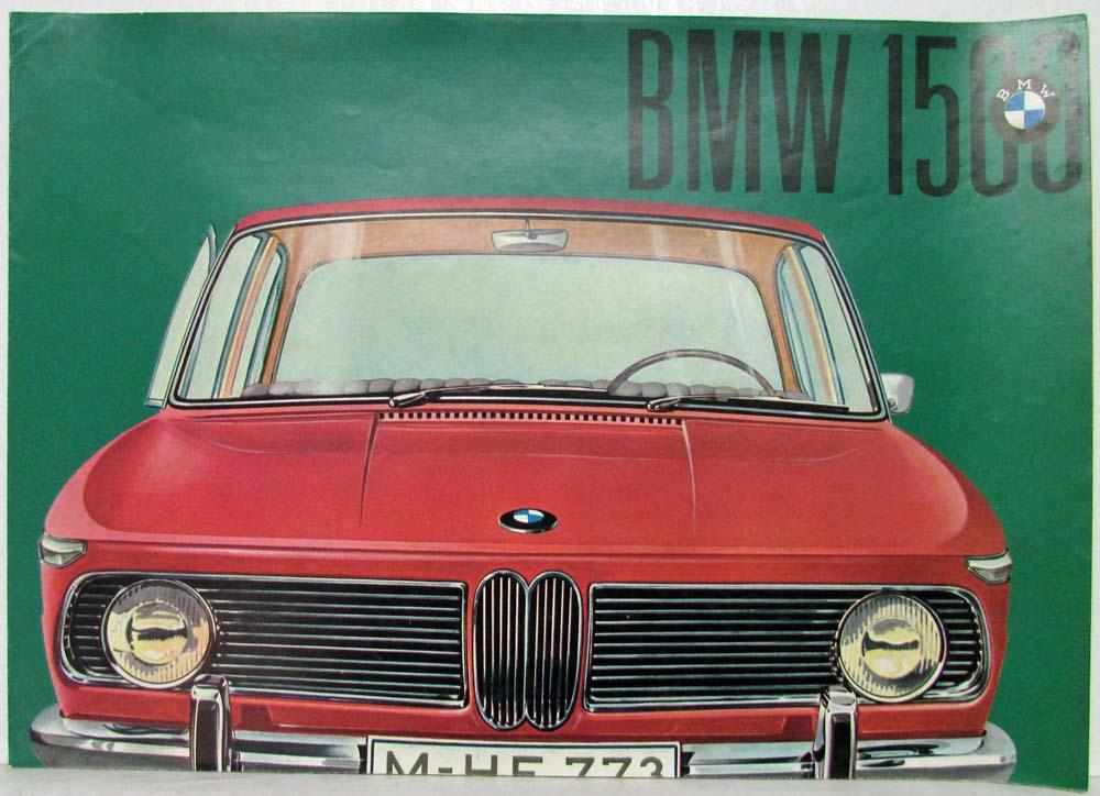 1962 BMW 1500 Sales Folder - German Text