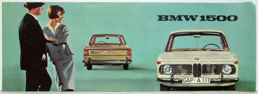 1962 BMW 1500 Short and Wide Sales Brochure - German Text