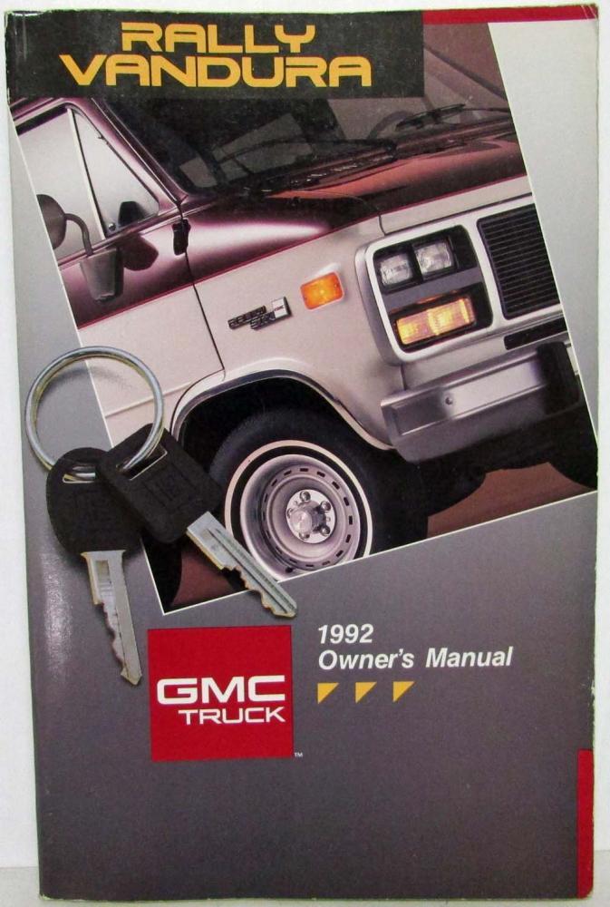 1992 gmc truck rally wagon vandura van owners manual rh autopaper com 1992 gmc vandura 2500 owners manual 1976 gmc vandura motorhome owners manual