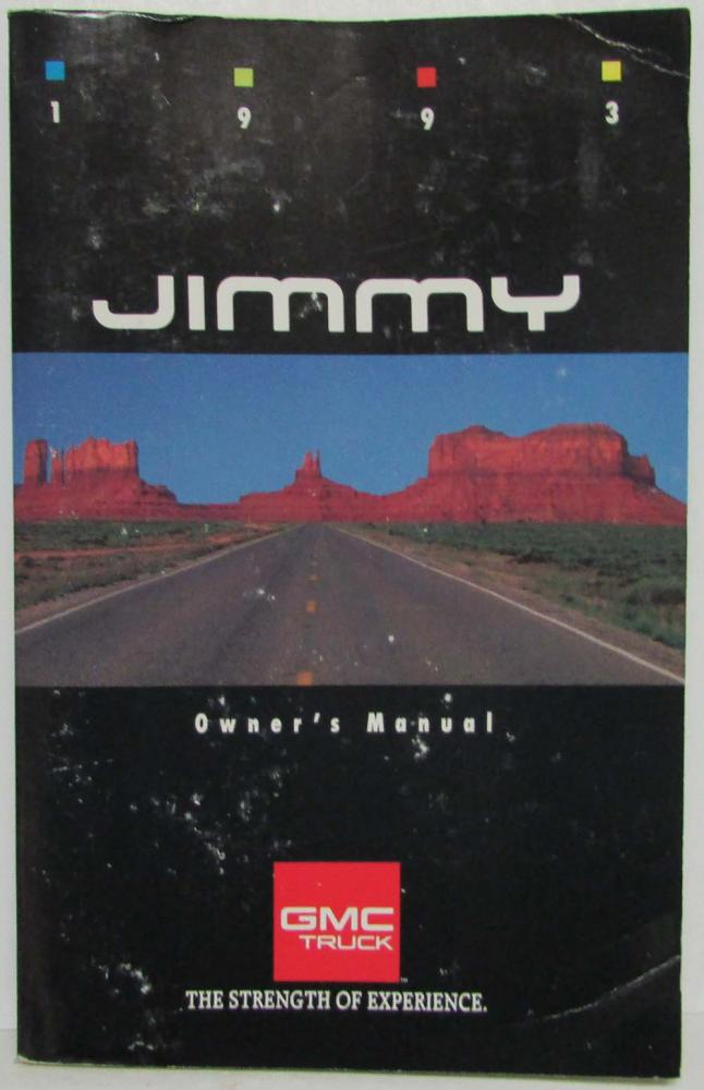 1993 gmc truck jimmy owners manual rh autopaper com 1990 GMC Jimmy 1995 GMC Jimmy