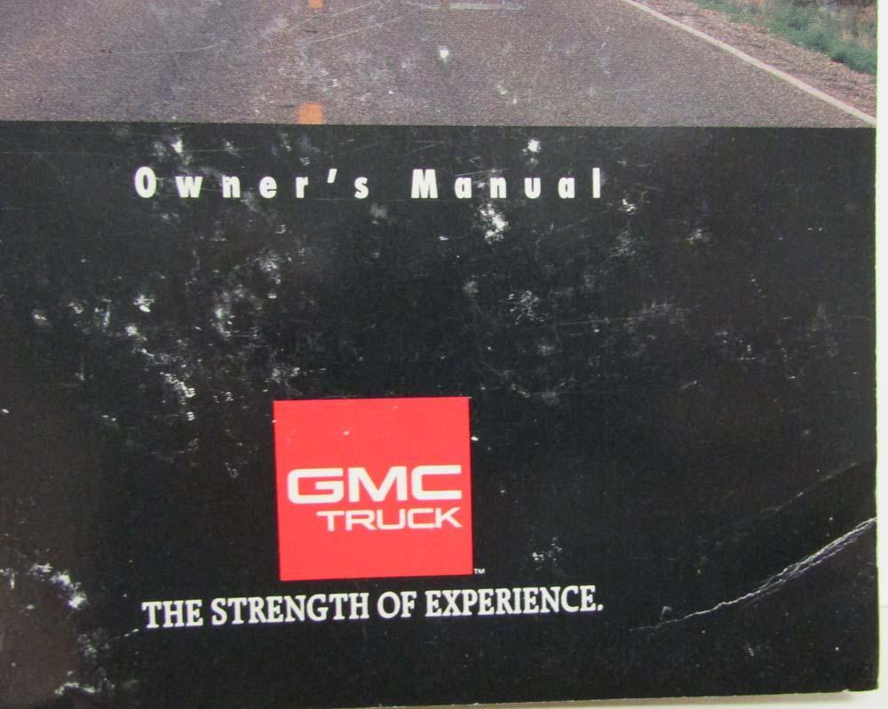 1993 gmc truck jimmy owners manual rh autopaper com 1990 GMC Jimmy 1995 GMC Jimmy