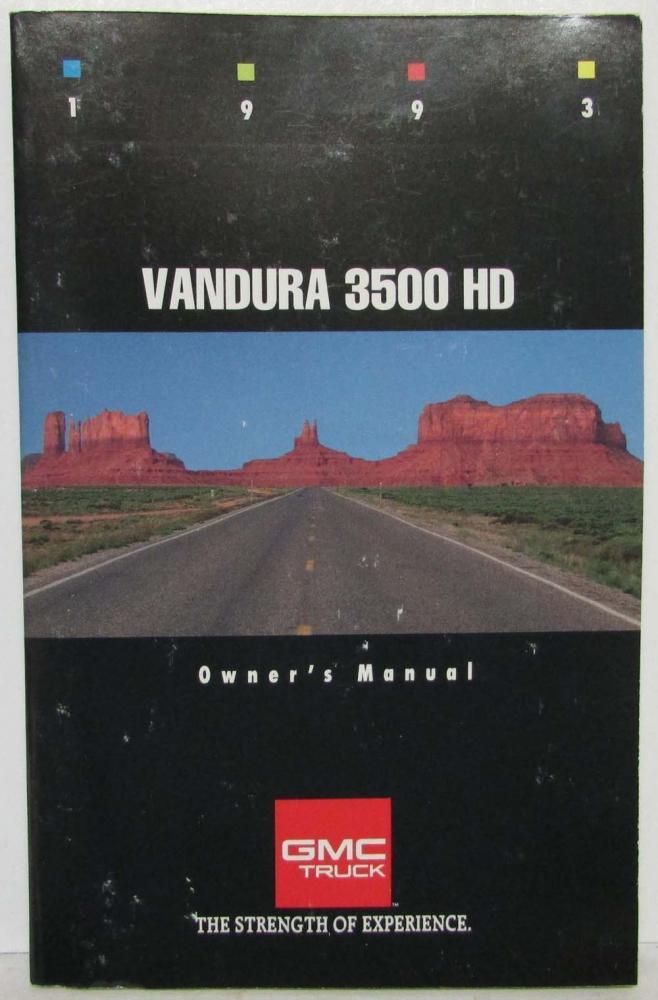 1993 gmc truck vandura 3500 hd owners manual rh autopaper com 1992 gmc vandura 2500 owners manual 1990 gmc vandura owners manual