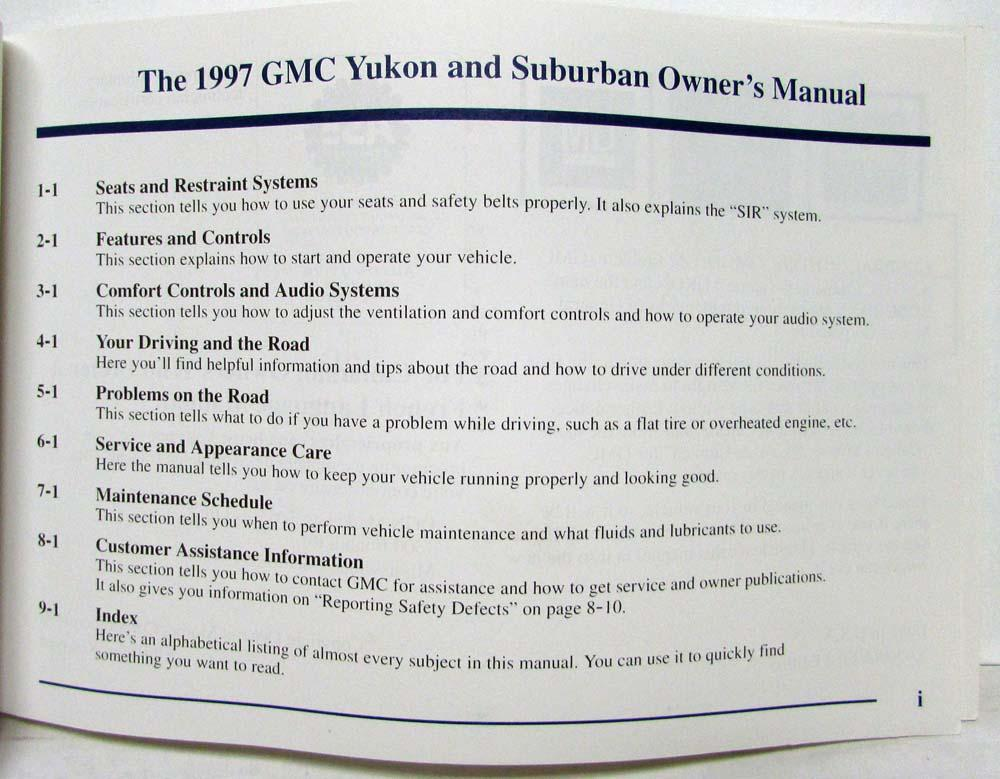 1997 gmc truck yukon suburban owners manual rh autopaper com 1997 chevrolet suburban owners manual 2000 Suburban