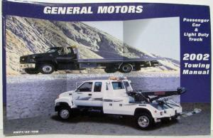 2002 GMC Motors Passenger Car and Light Duty Truck Towing Manual