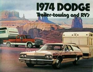 1974 Dodge Trailer Towing RV Color Sales Brochure Original