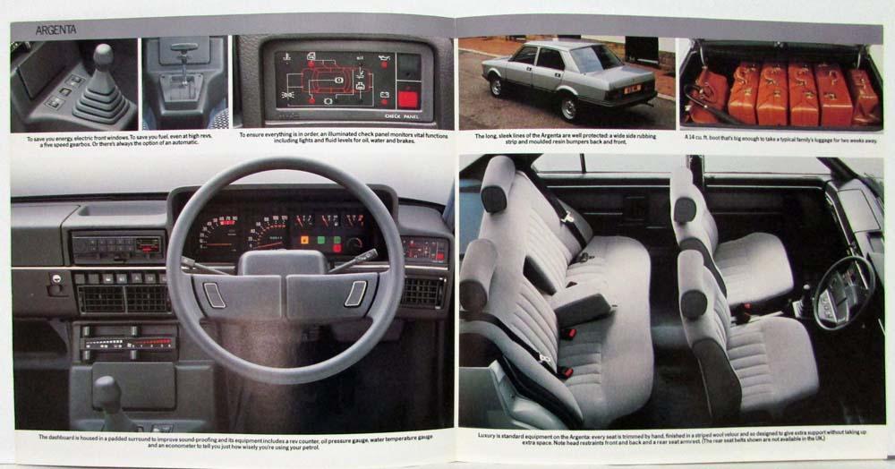 1983 Fiat Argenta Sales Brochure Uk Market