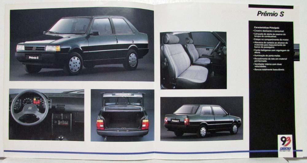 1993 Fiat Premio S Spec Folder Spanish Text