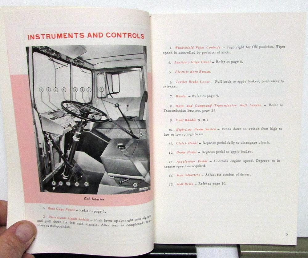 Early 1970s Mack Truck MB Series Owners Manual Original Care & Operation