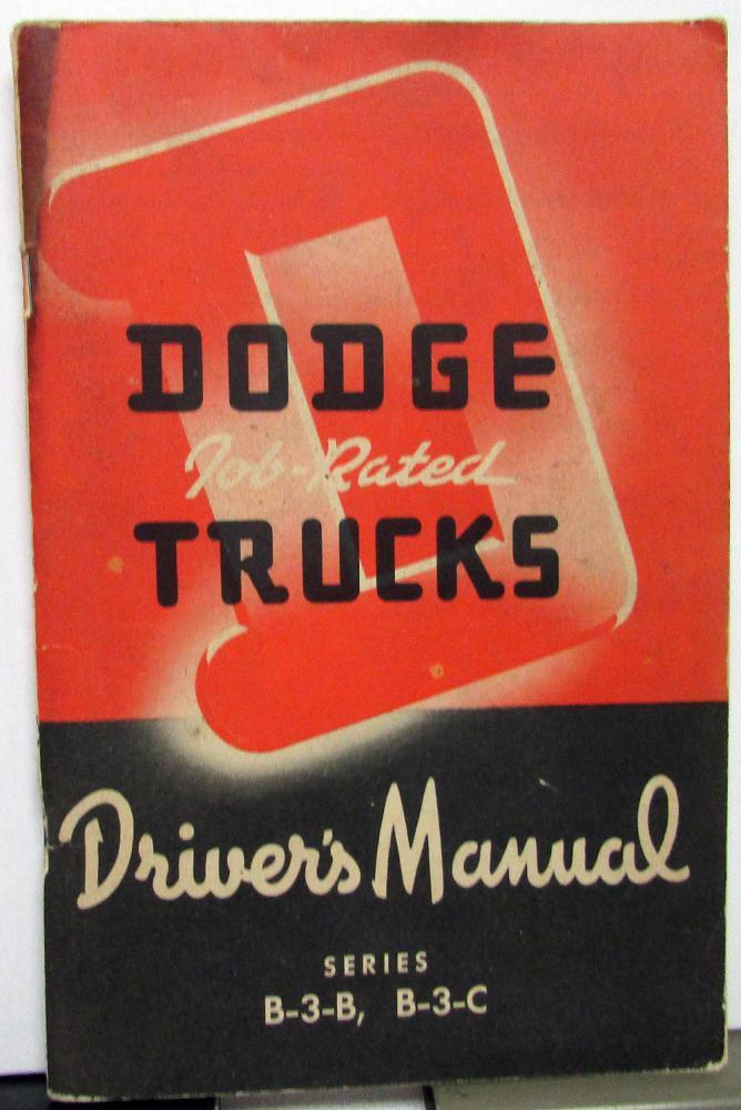 1951 1952 dodge truck owners manual original care operation b 3 b rh autopaper com dodge truck owners manual dodge truck service manual pdf