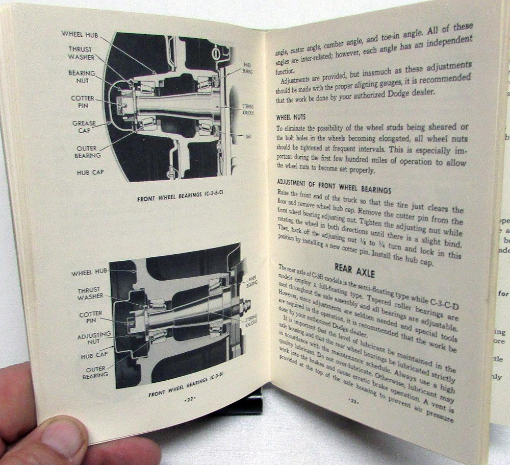 1955 Dodge Truck Owners Manual Original Care & Operation C-3 Models B C D